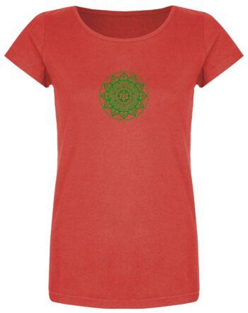 Basic Bio T-Shirt (ladies) Anahata Chakra red
