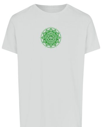Basic Bio T-Shirt (men) Anahata Chakra white
