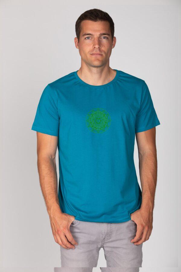 Basic Bio T-Shirt (men) Anahata Chakra petrol