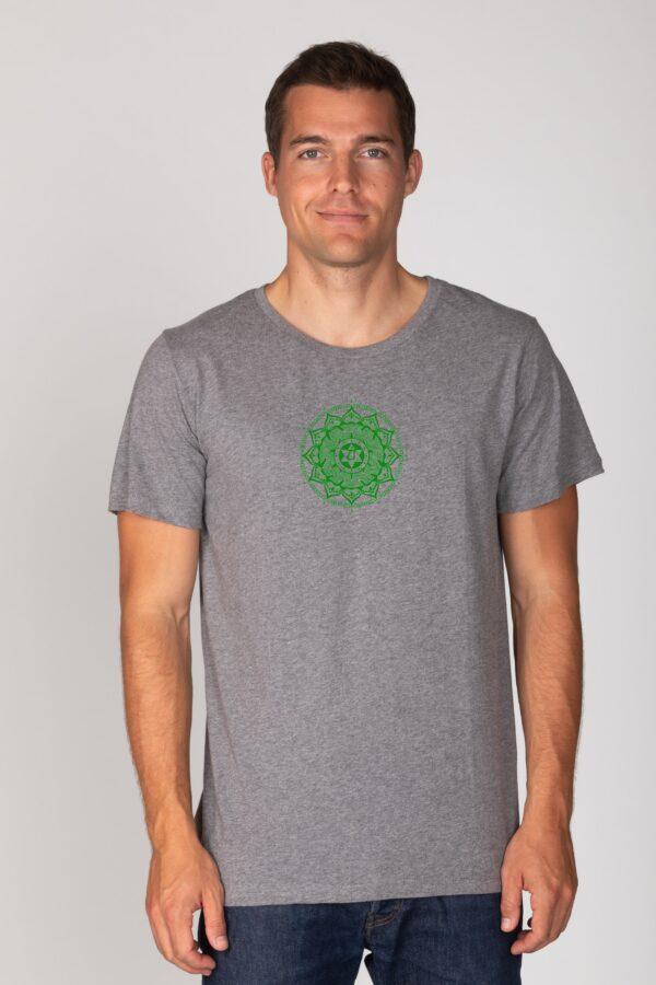 Basic Bio T-Shirt (men) Anahata Chakra grey