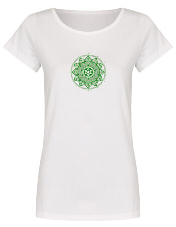Basic Bio T-Shirt (ladies) Anahata Chakra white