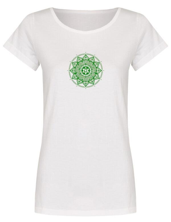 Basic Bio T-Shirt (ladies) Anahata Chakra white