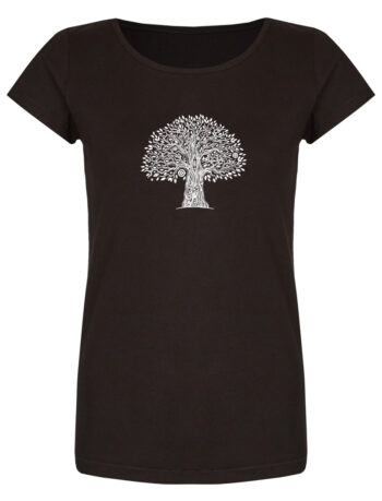 Basic Bio T-Shirt (ladies) Tree Life Black