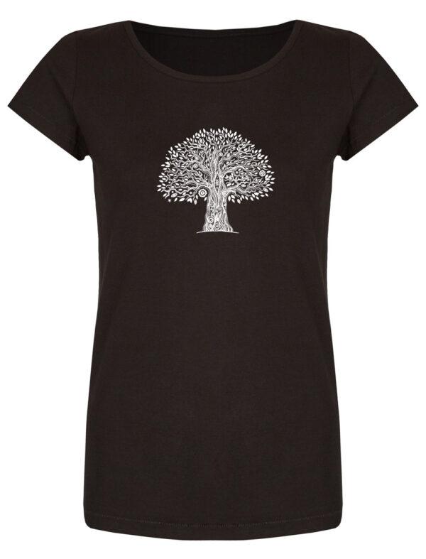 Basic Bio T-Shirt (ladies) Tree Life Black