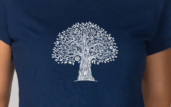Basic Bio T-Shirt (ladies) Tree Life azur