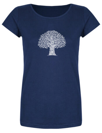 Basic Bio T-Shirt (ladies) Tree Life azur