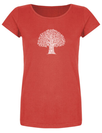 Basic Bio T-Shirt (ladies) Tree Life red