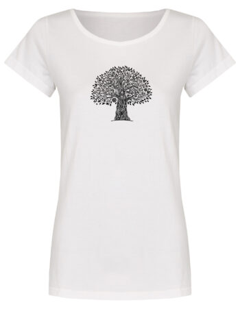 Basic Bio T-Shirt (ladies) Tree Life white