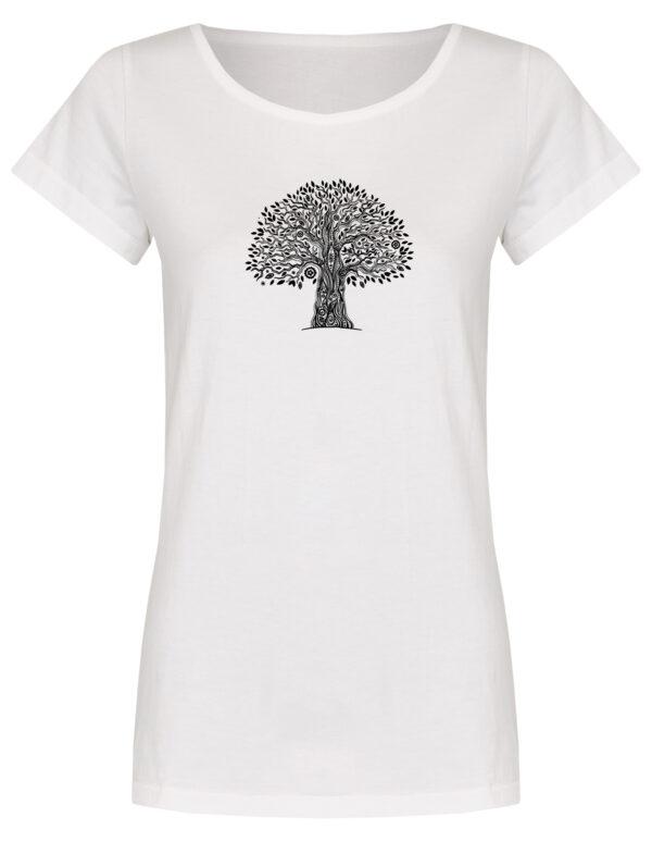 Basic Bio T-Shirt (ladies) Tree Life white
