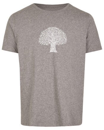 Basic Bio T-Shirt (men) Life Tree Grey