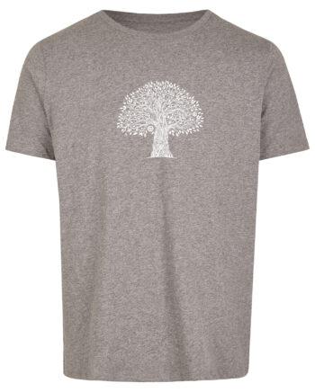 Basic Bio T-Shirt (men) Life Tree Grey