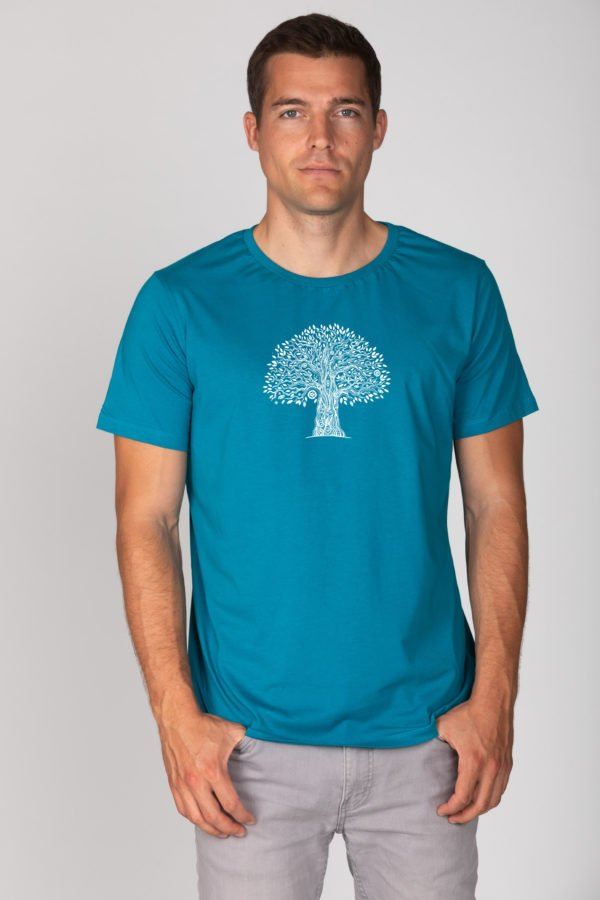 Basic Bio T-Shirt (men) Life Tree Petrol