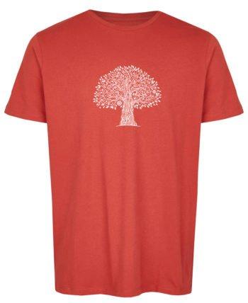 Basic Bio T-Shirt (men) Life Tree Red