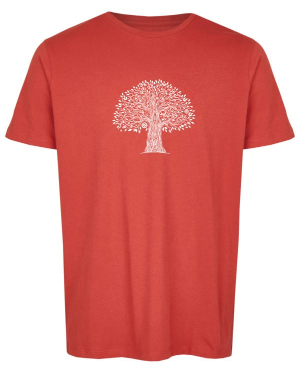 Basic Bio T-Shirt (men) Life Tree Red