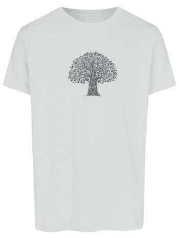 Basic Bio T-Shirt (men) Life Tree White