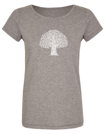 Basic Bio T-Shirt (ladies) Tree Life Grey
